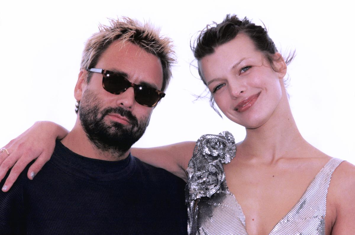Milla Jovovich et Luc Besson au Festival de Cannes