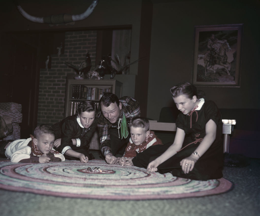 Roy Rogers With His Kids