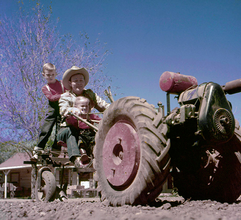Roy Rogers On A Tractor