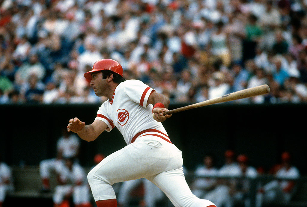 Johnny Bench hits