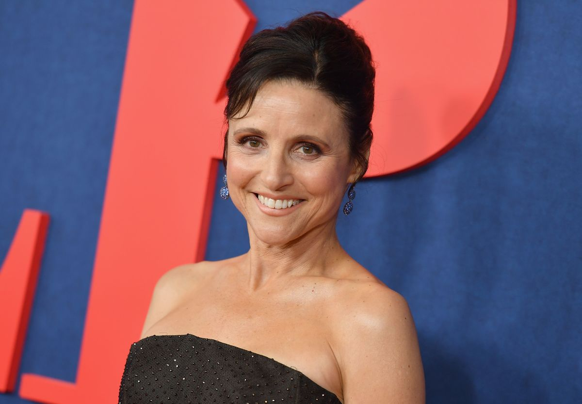 """US actor Julia Louis-Dreyfus attends the premiere of the seventh and final season of HBO's """"Veep"""" at Alice Tully Hall at the Lincoln Center in New York City on March 26, 2019."""