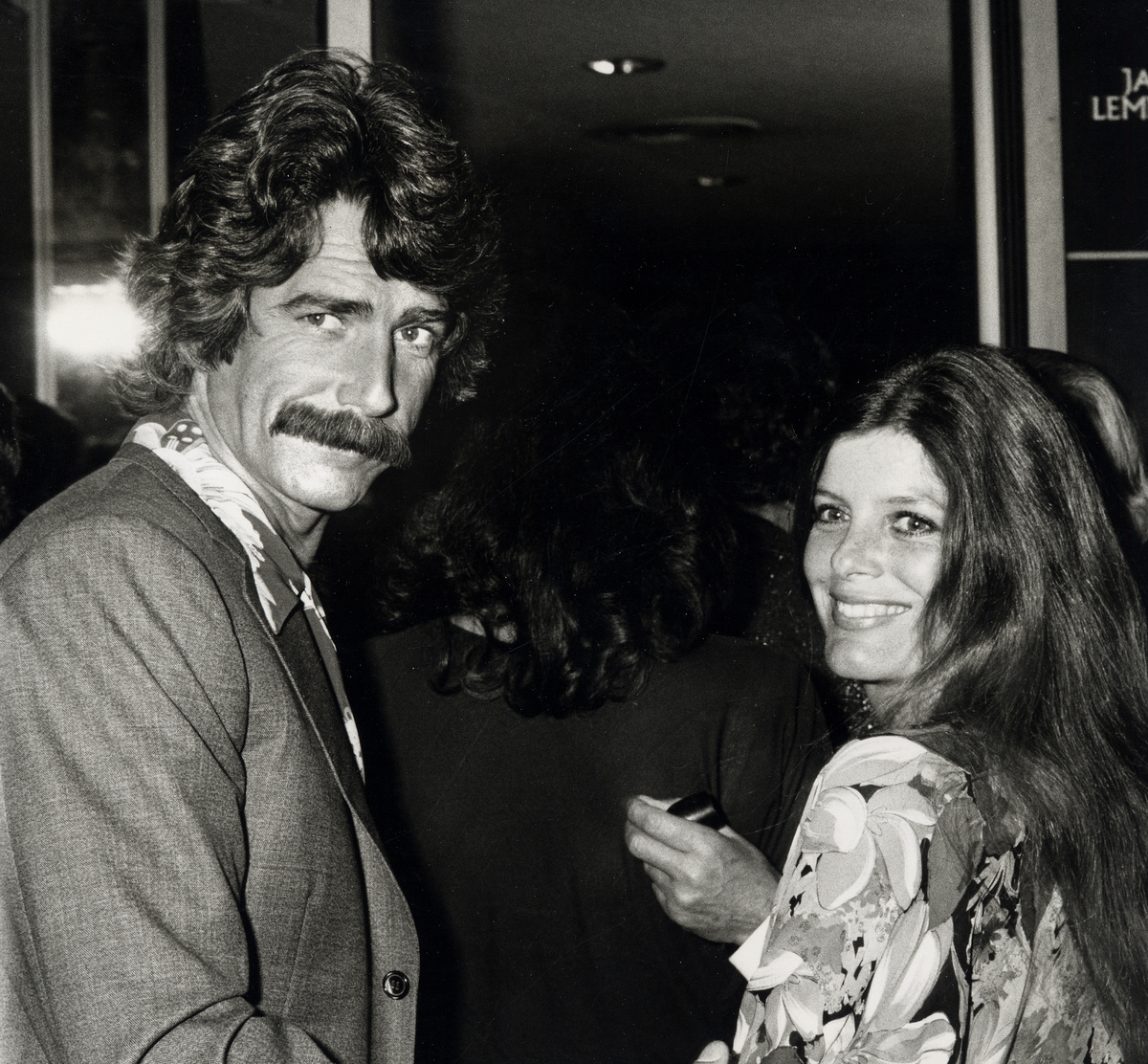Actor Sam Elliott and actress Katharine Ross attending the premiere of