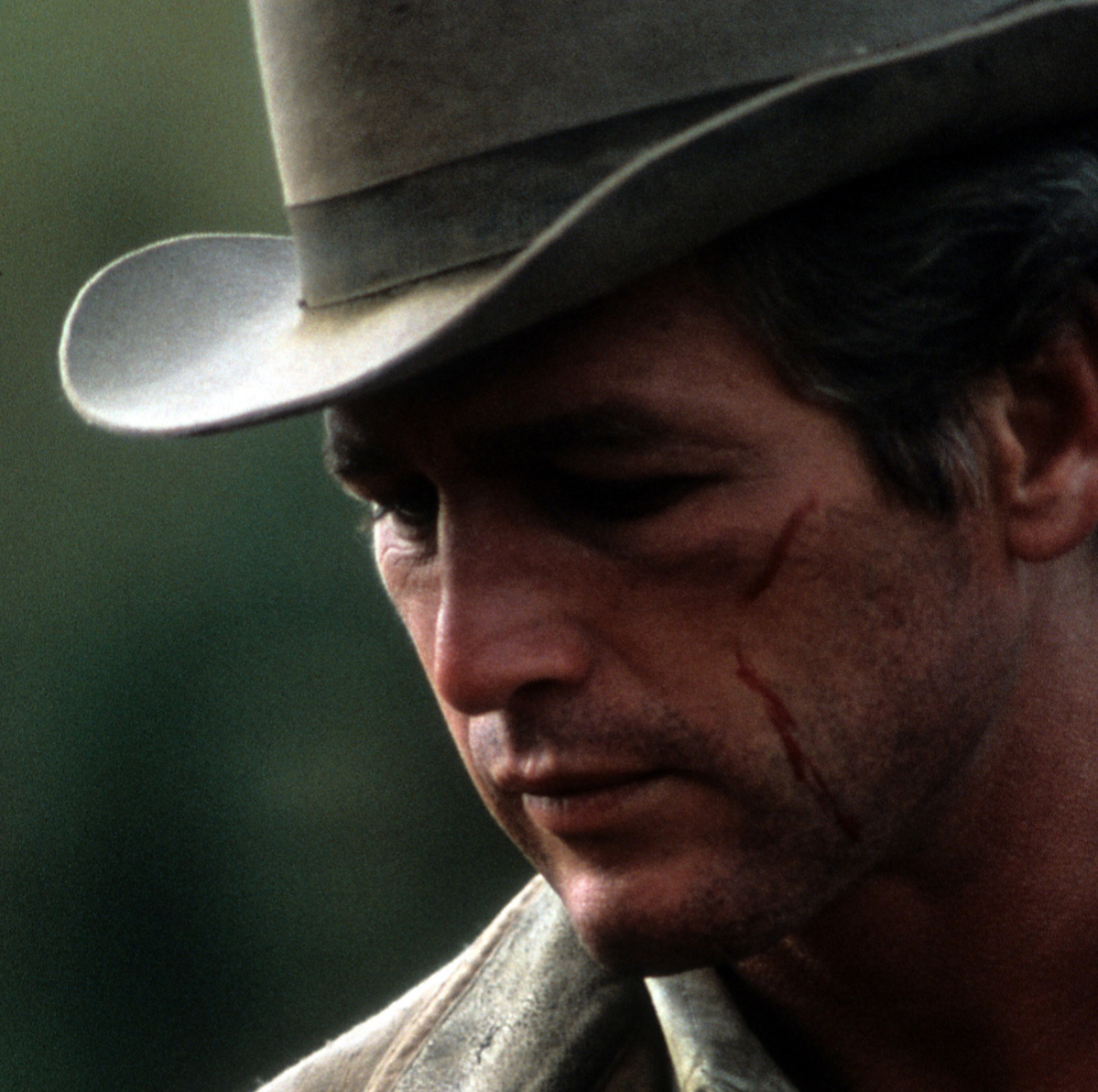 Paul Newman in a scene from the film 'Butch Cassidy and the Sundance Kid', 1969.