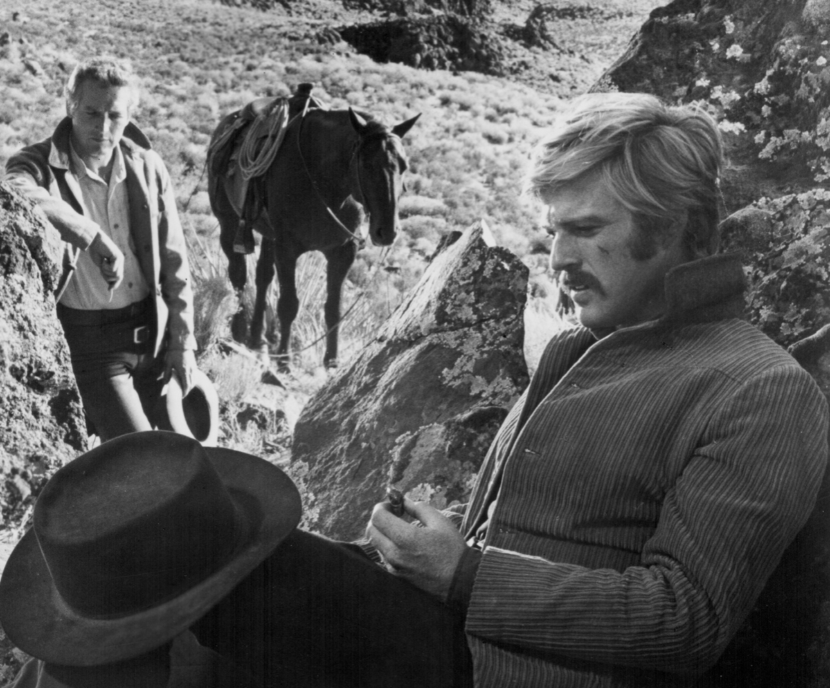 Actors Paul Newman and Robert Redford in a scene from the movie 'Butch Cassidy and the Sundance Kid', 1969.