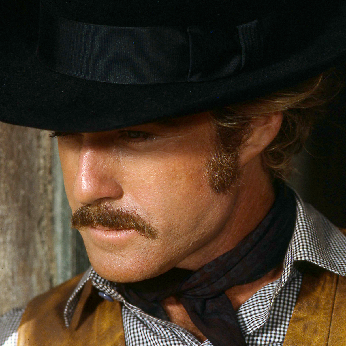 American actor Robert Redford as the Sundance Kid, in 'Butch Cassidy And The Sundance Kid', directed by George Roy Hill, 1969.