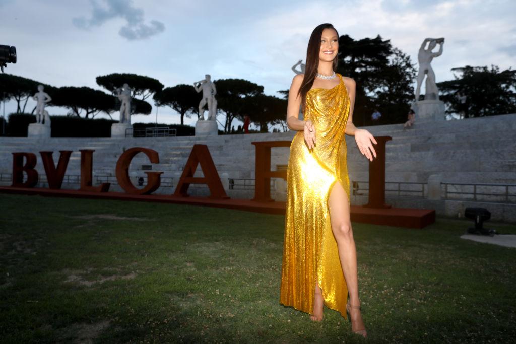 Bella Hadid attends BVLGARI Dinner & Party at Stadio dei Marmi