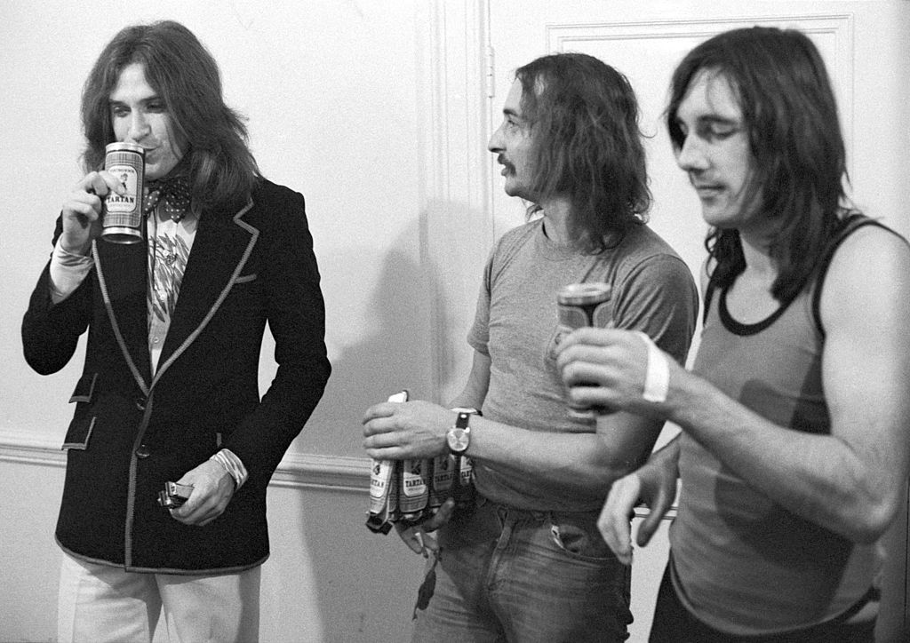 The Kinks drinking beer