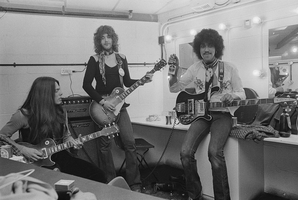 Thin Lizzy in the dressing room