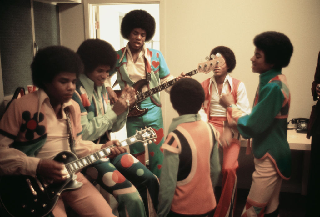 The band warming up at Inglewood Forum