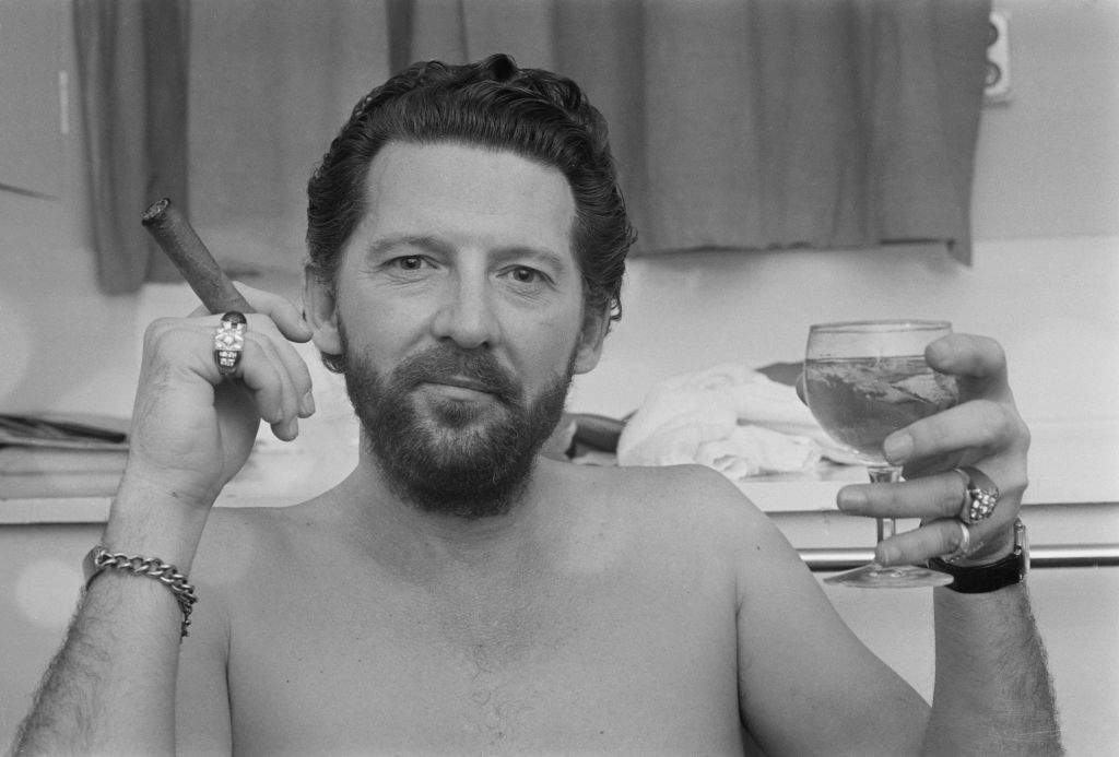 Jerry Lee Lewis with cigar and drink