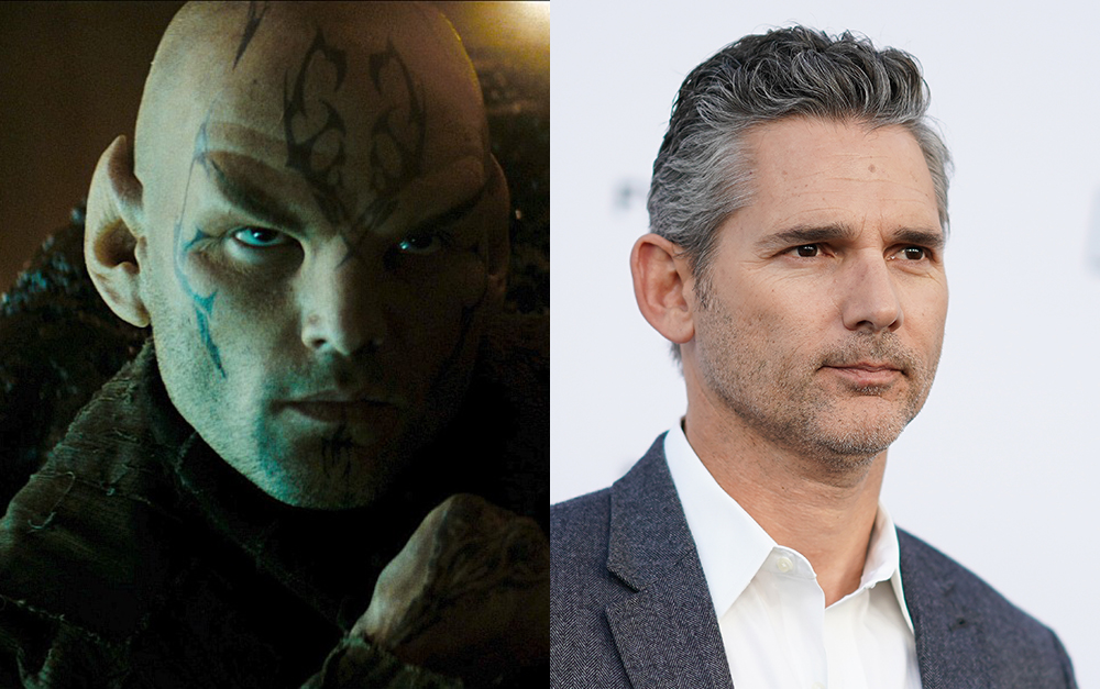 Eric Bana on the right and his Star Trek role, Nero, on the left.