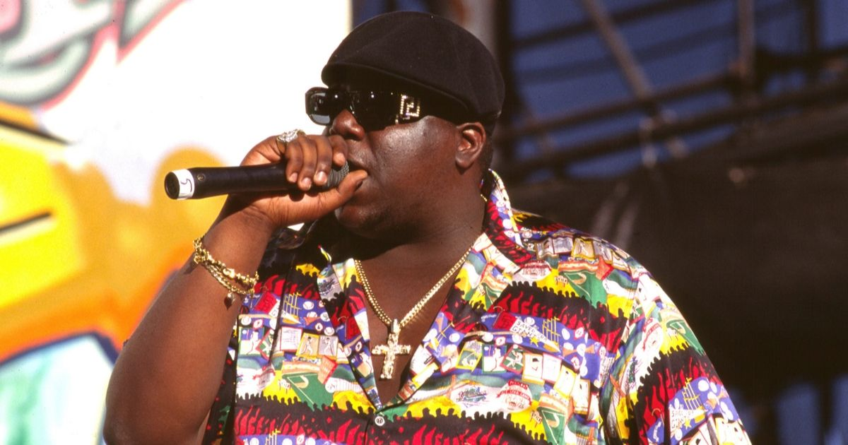 Notorious B.I.G performs in 1995