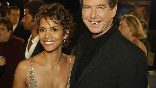 Halle Berry and Pierce Brosnan at the premiere of