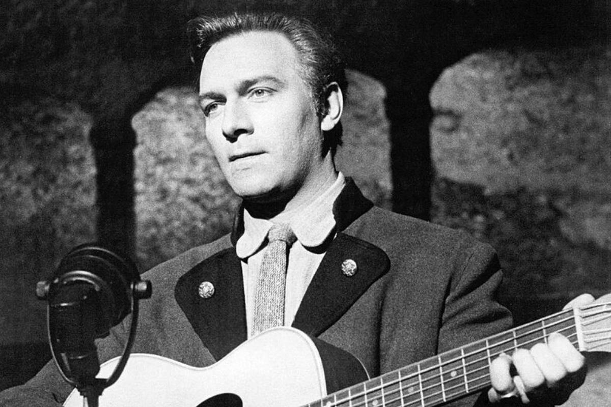 Actor Christopher Plummer as Captain von Trapp in The Sound Of Music