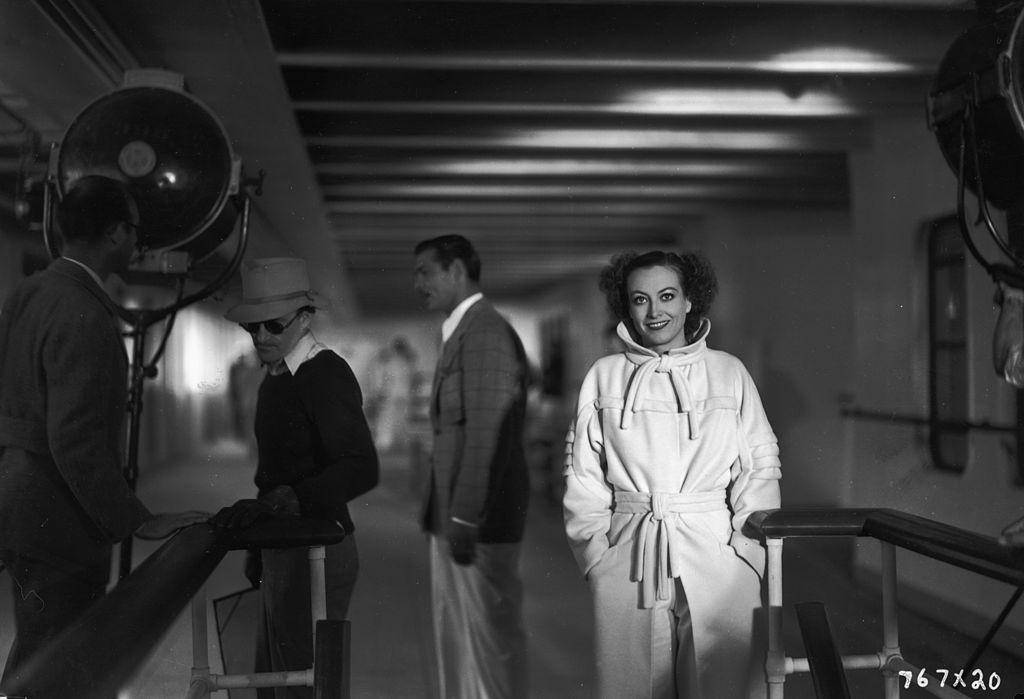 Joan Crawford on the Set of Chained
