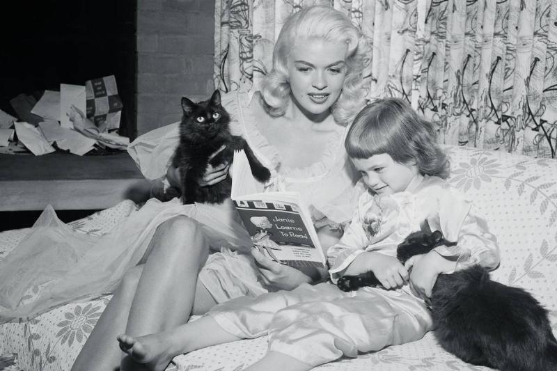 Actress Jayne Mansfield with Her Daughter and Pets