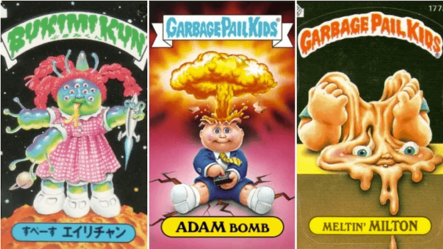 Adam Bomb garbage pail kids card.png