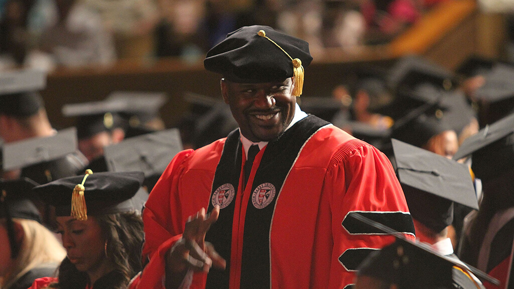 Shaquille O'Neal is a Scholar